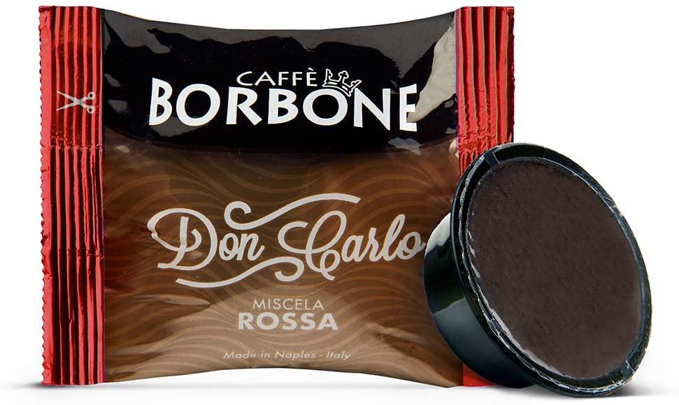Caffè Borbone Don Carlo Miscela Rossa - Confezione da 100 Capsule Compatibili con macchine a marchio Lavazza A Modo Mio