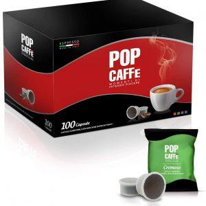 100 Capsule Pop caffè rosso compatibili espresso point