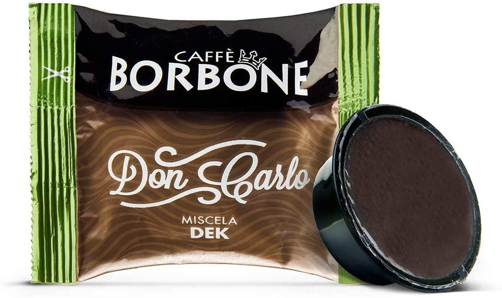 Caffè Borbone Don Carlo Miscela Decaffeinata - Confezione da 100 Capsule - Compatibili con macchine a marchio Lavazza®* A Modo Mio®*
