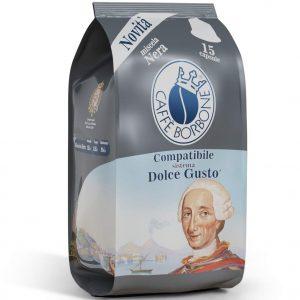 15 capsule caffè BORBONE NERA Compatibile Dolce Gusto