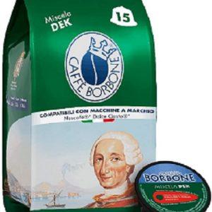 Caffè Borbone Miscela Decaffeinata - 90 capsule (6 confezioni da 15 capsule) - Compatibili Nescafè®* Dolce Gusto®*