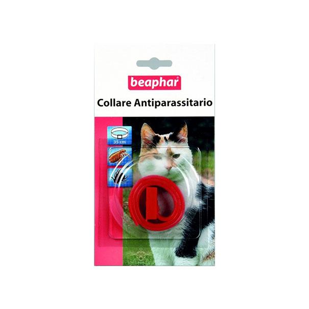 beaphar collare antiparassitario rosso per gatto in box