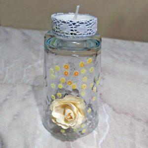 bicchiere a candela a fiori