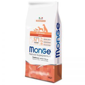 Monge Superpremium All Breeds Adult Salmone & Riso da 12 kg