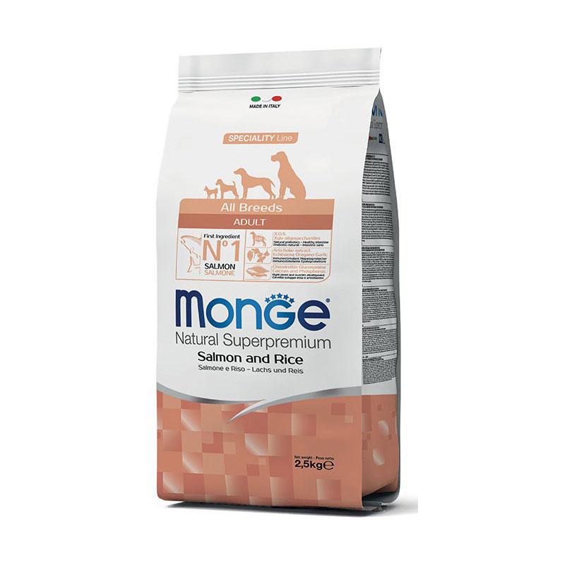Monge superpremium all breeds adult salmone & riso da 2.5 kg