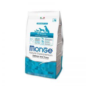 Monge superpremium all breeds hypoallergenic salmone e tonno da 2.5 kg
