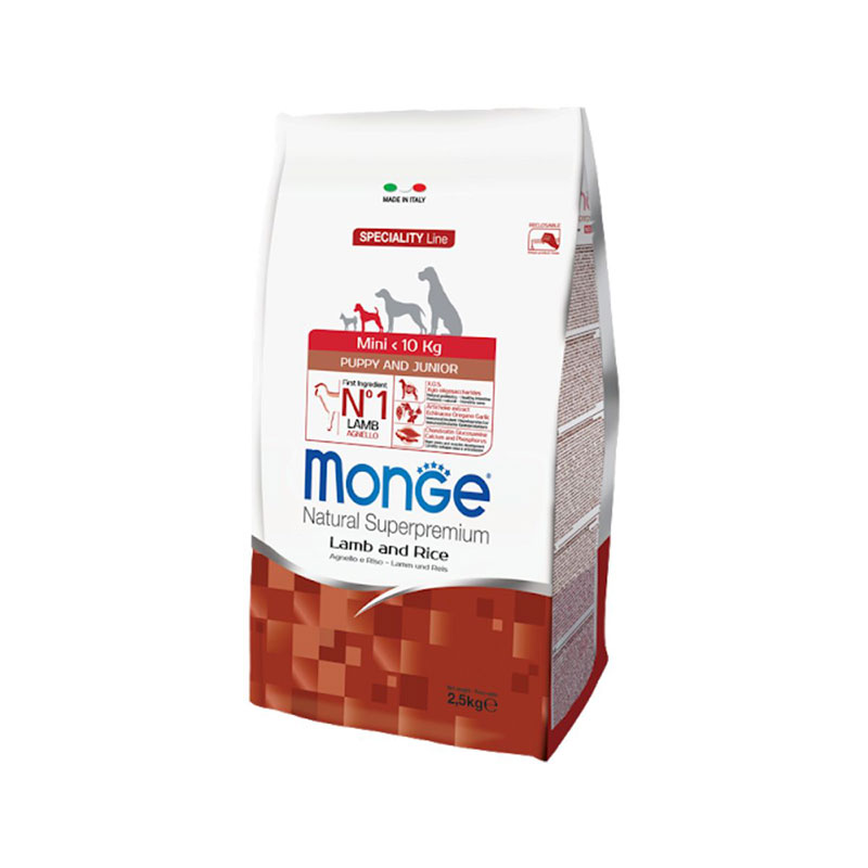 Monge superpremium all breeds puppy junior agnello & riso da 2.5 kg