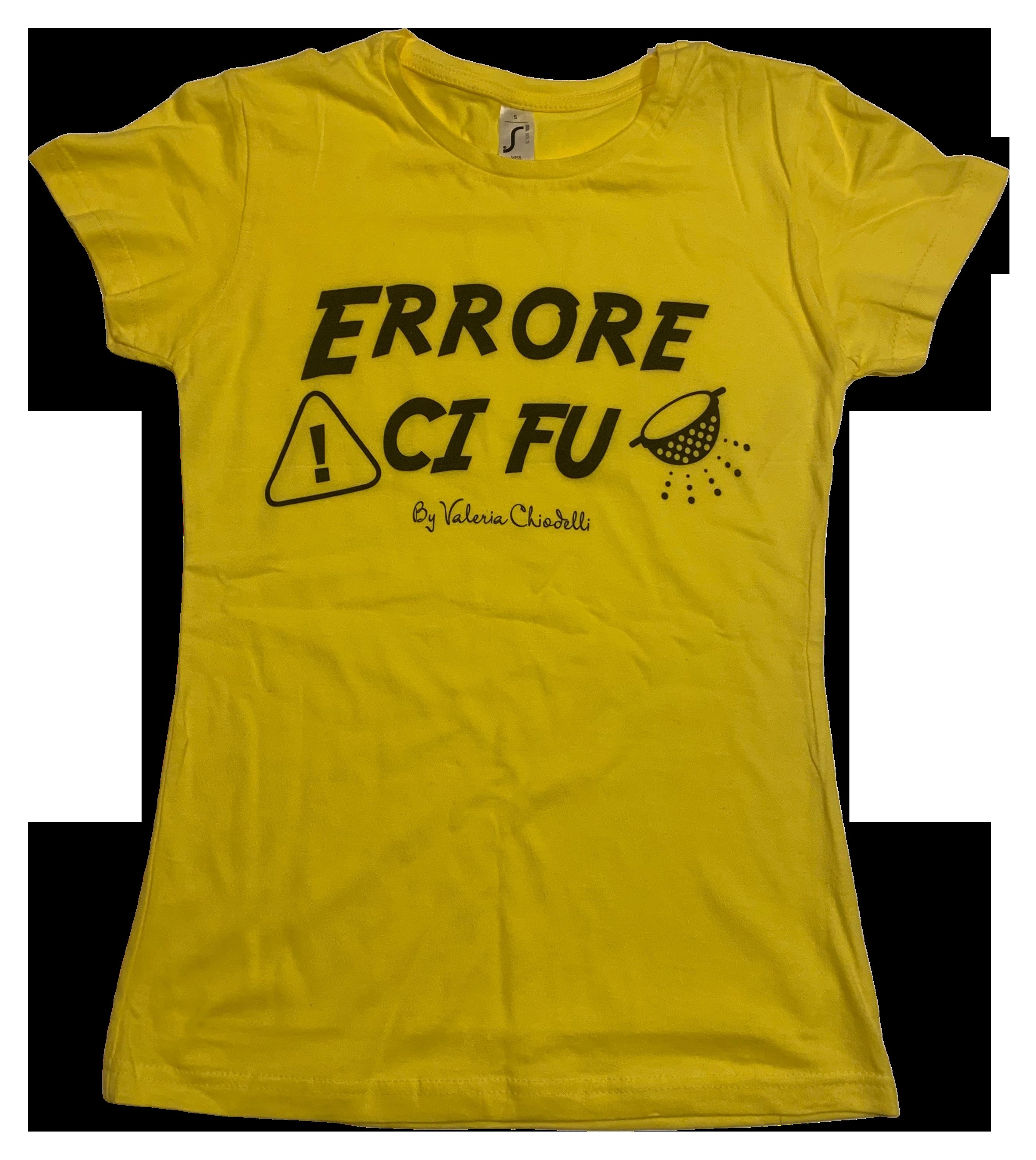 T-Shirt Errore ci fu by Valeria Chiodelli Gialla